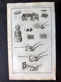 Royal Cyclopaedia C1790 Folio Print. System of Agriculture & Husbandry 04